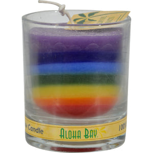 Aloha Bay Votive Jar Candle - Unscented Rainbow - Case Of 12 - 2.5 Oz