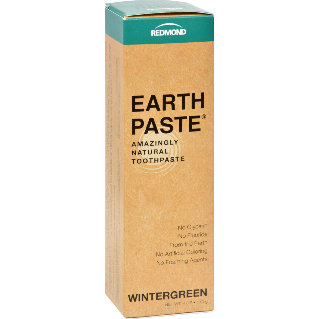 Redmond Trading Company Earthpaste Natural Toothpaste Wintergreen - 4 Oz