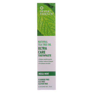 Desert Essence Toothpaste - Tea Tree U-care Mint - 6.25 Oz