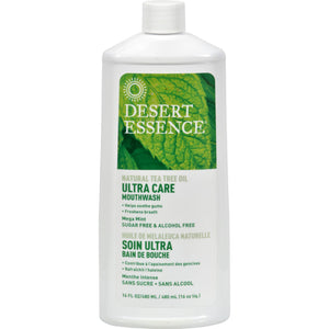 Desert Essence Mouthwash - Tea Tree U-care Mint - 16 Fl Oz