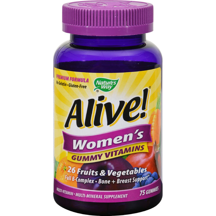 Nature's Way Alive - Women's Energy Gummy Multi-vitamins - 75 Chewables