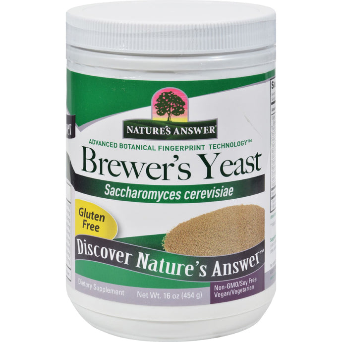 Nature's Answer Brewers Yeast - Gluten Free - 16 Oz