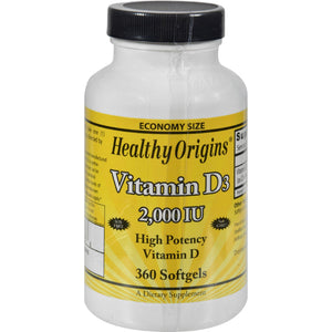 Healthy Origins Vitamin D3 - 2000 Iu - 360 Softgels