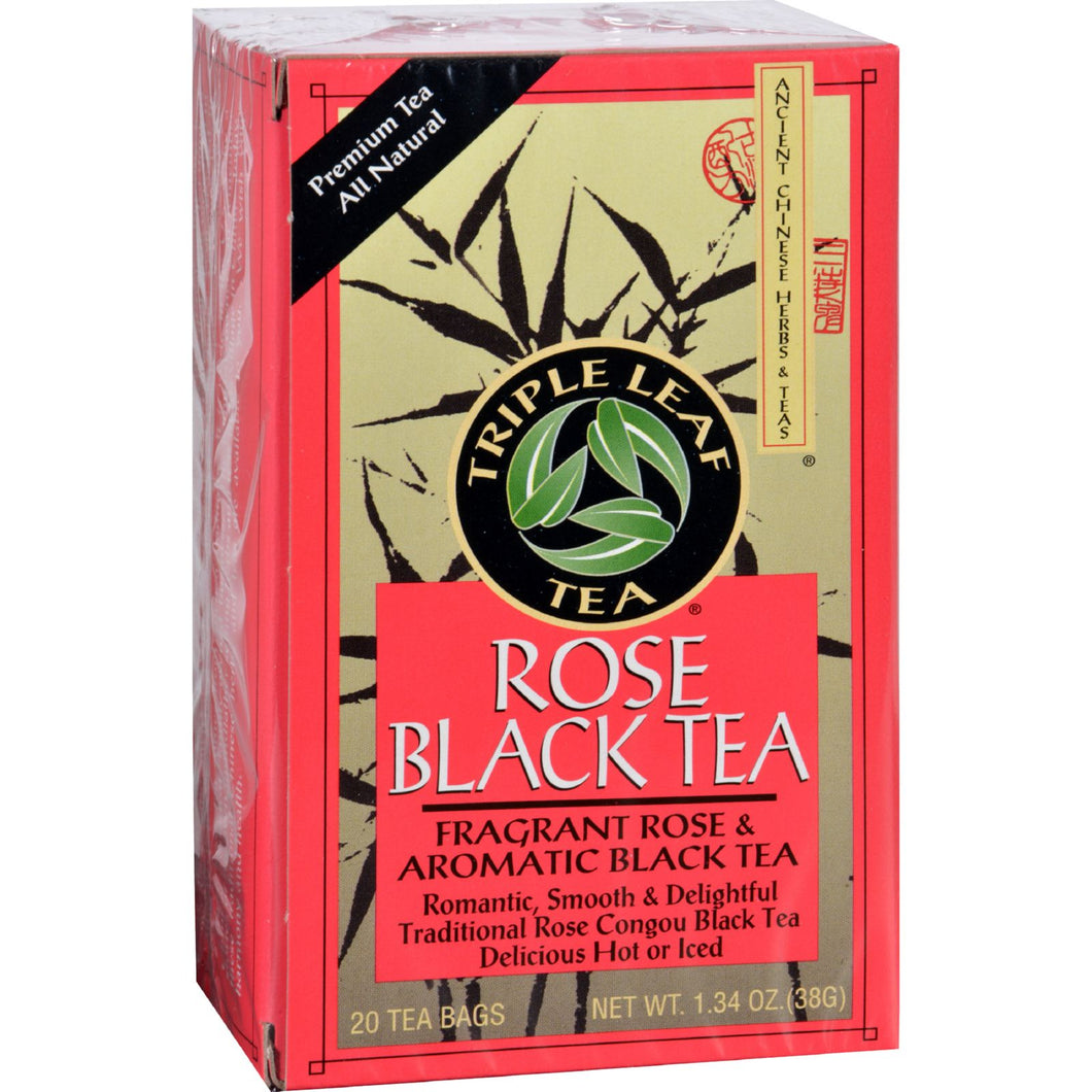 Triple Leaf Tea - Black Tea - Rose - 20 Tea Bags - 1 Case