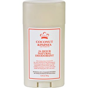 Nubian Heritage Deodorant - All Natural - 24 Hour - Coconut And Papaya - With Vanilla Oil - 2.25 Oz
