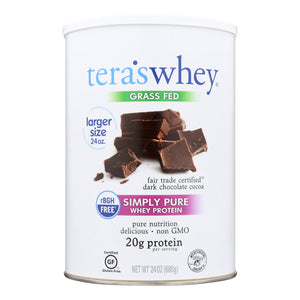 Tera's Whey Protein - Rbgh Free - Fair Trade Dark Chocolate - 24 Oz