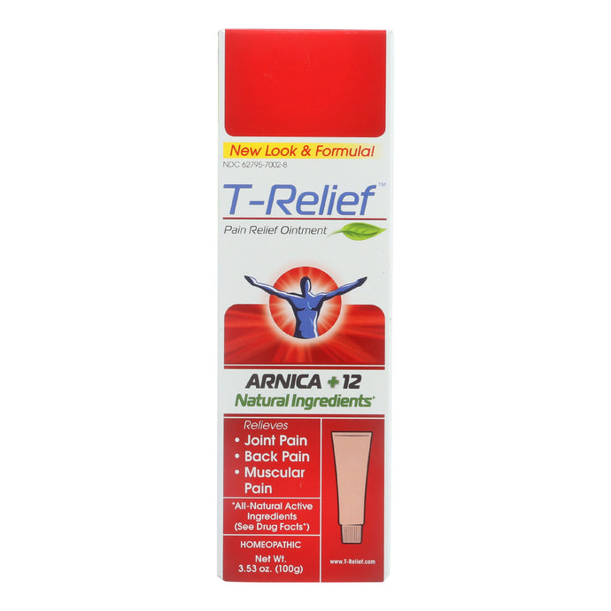 T-relief Pain Relief Ointment - Arnica Plus 12 Natural Ingredients - 3.53 Oz