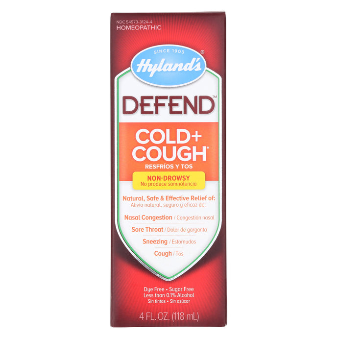 Hylands Homeopathic Hyland's Defend - Cold And Cough - 4 Fl Oz.