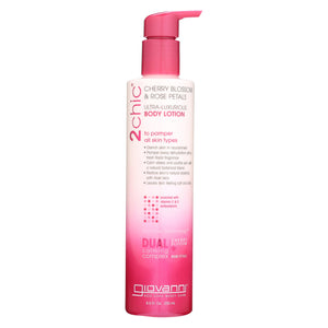 Giovanni Hair Care Products 2chic - Lotion - Cherry Blossom - Rose - 8.5 Fl Oz