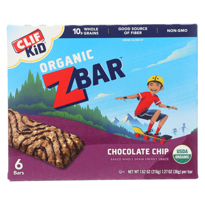 Clif Kid Zbar - Organic Zbar - Chocolate Chip - Case Of 9 - 7.62 Oz.
