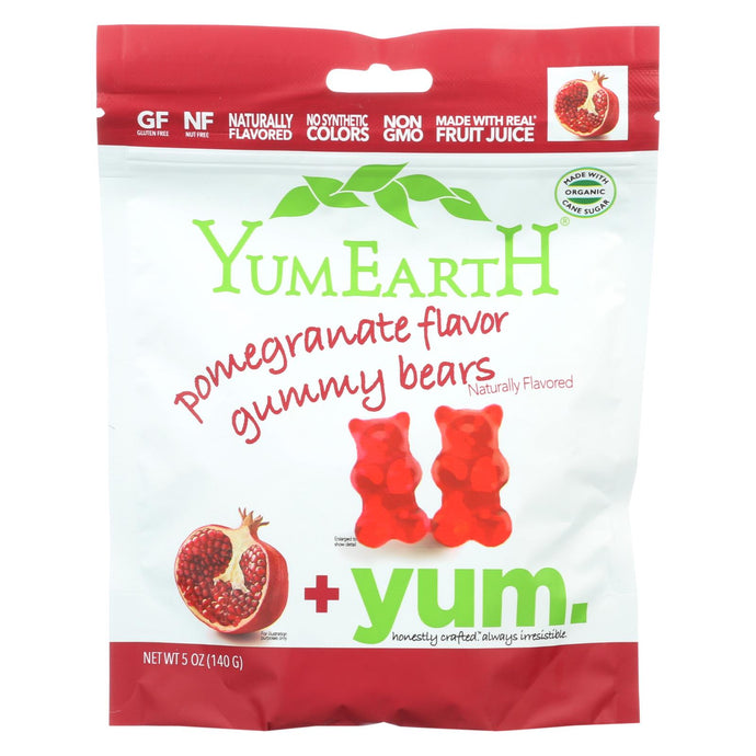Yumearth Organics - Organic Gummy Bears - Pomegranate - Case Of 12 - 5 Oz.