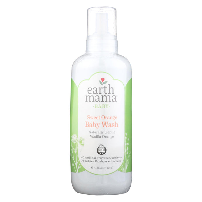 Earth Mama Baby Wash Vanilla Orange - Case Of 34 - 34 Fl Oz.