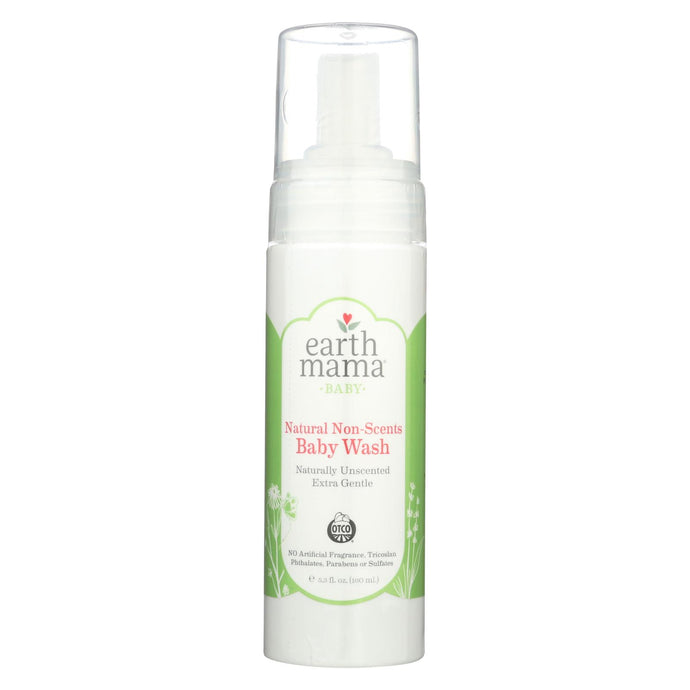 Earth Mama Baby Wash Non-scents - Case Of 5.3 - 5.3 Fl Oz.