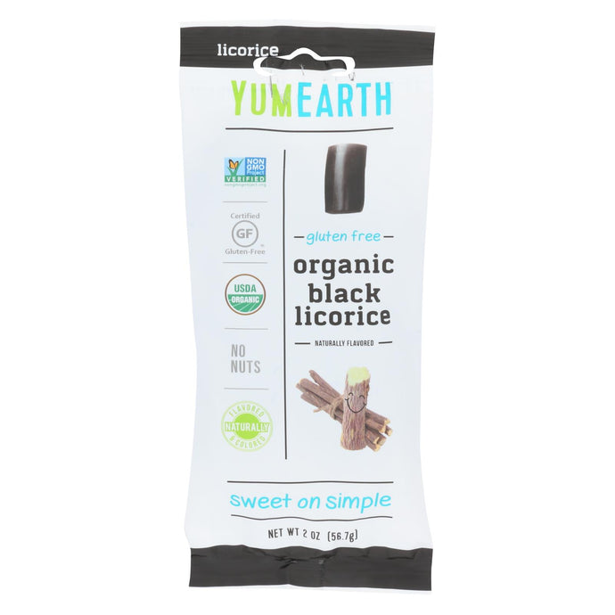Yumearth Organics - Organic Licorice - Black - Case Of 12 - 2 Oz.