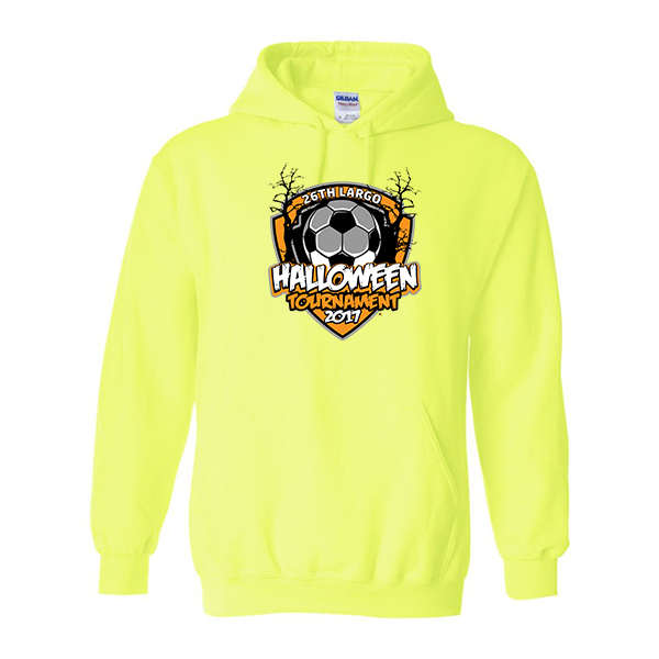 Neon Green Hoodie 26th Largo Halloween Tournament