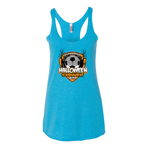 Premium Turquoise Ladies Tank 26th Largo Halloween Tournament