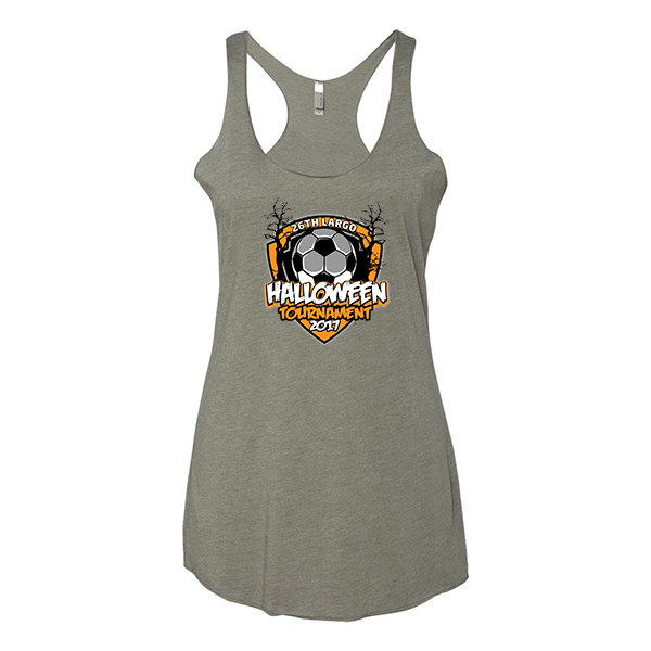 Premium Warm Grey Ladies Tank 26th Largo Halloween Tournament