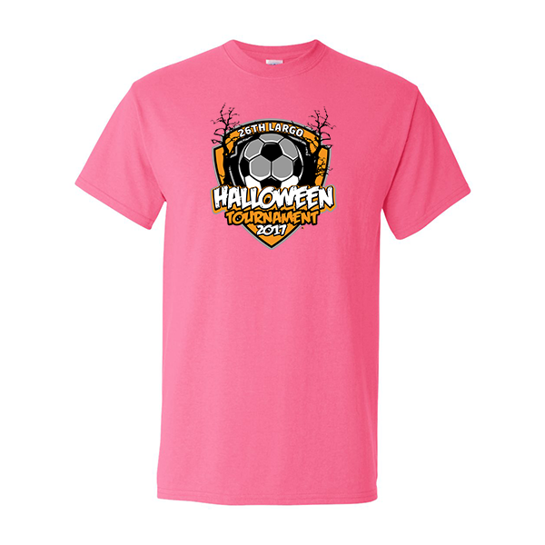Neon Pink T-Shirt 26th Largo Halloween Tournament