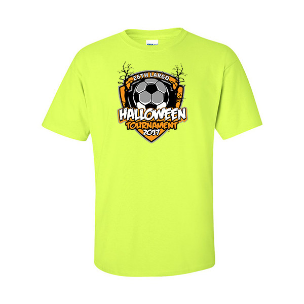 Neon Green T-Shirt 26th Largo Halloween Tournament