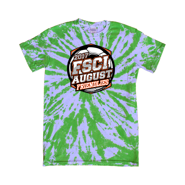 Green Tie-Dye T-Shirt FSCI August Friendlies