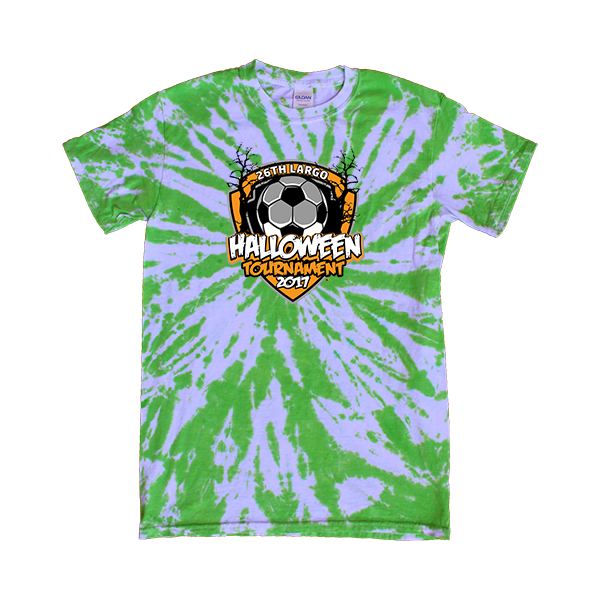 Green Tie-Dye T-Shirt 26th Largo Halloween Tournament