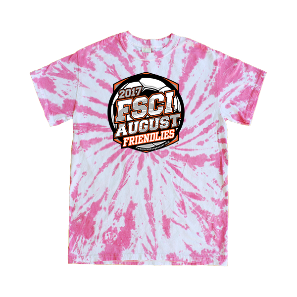 Pink Tie-Dye T-Shirt FSCI August Friendlies
