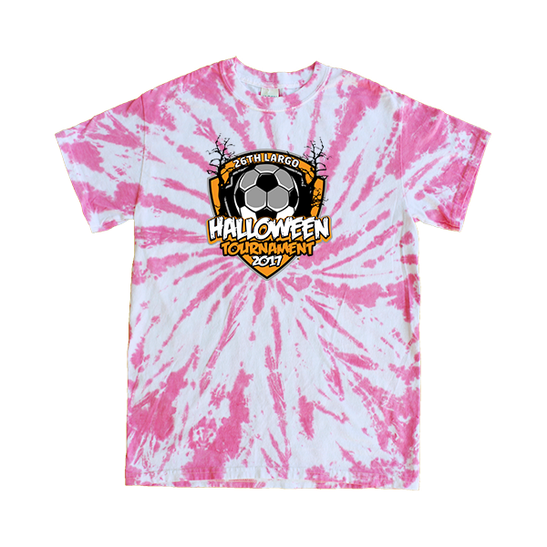 Pink Tie-Dye T-Shirt 26th Largo Halloween Tournament