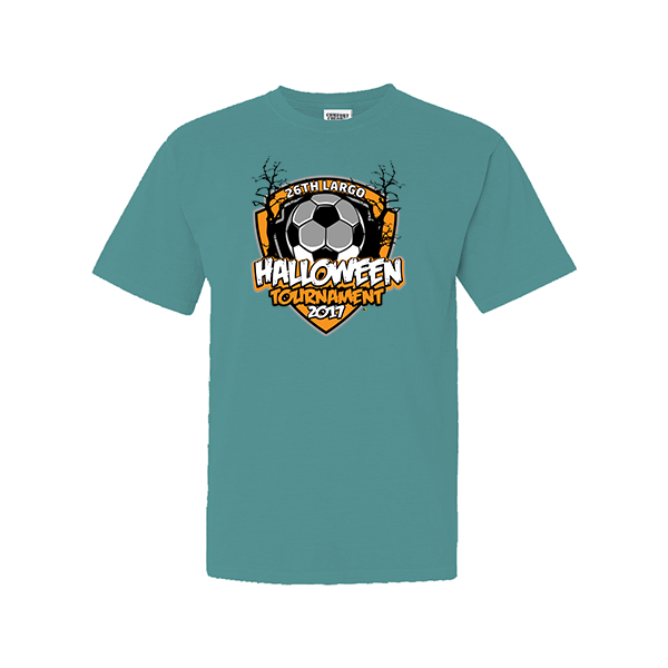 Comfort Colors Seafoam T-Shirt 26th Largo Halloween Tournament
