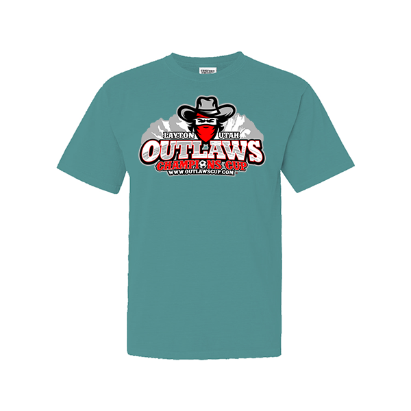9066d0ed607f Comfort Colors Seafoam T-Shirt Outlaws Champions Cup – Simax Sports