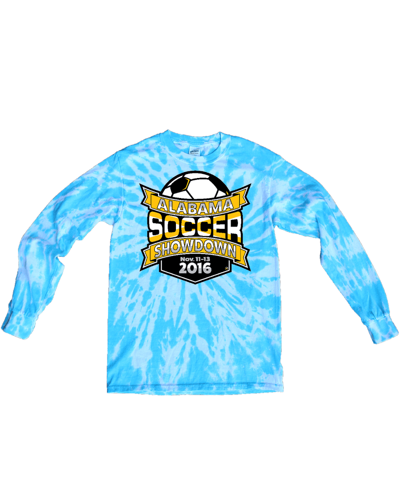 Blue Tie-Dye Long-Sleeve Shirt Alabama Soccer Showdown