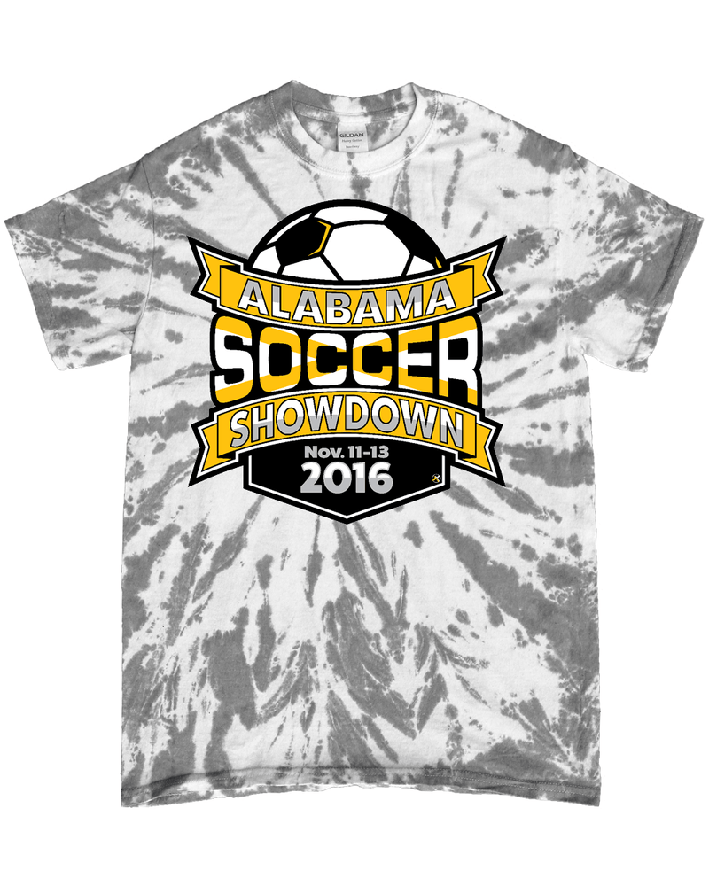 Grey Tie-Dye T-Shirt Alabama Soccer Showdown