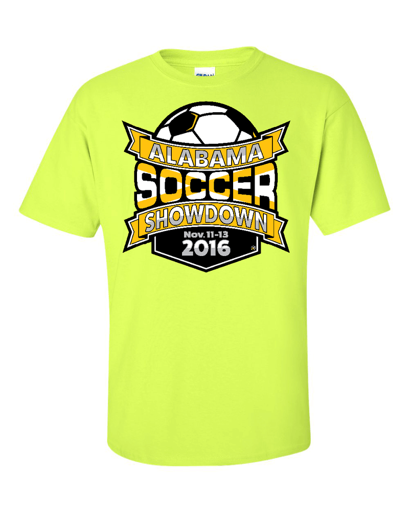 Neon Green T-Shirt Alabama Soccer Showdown