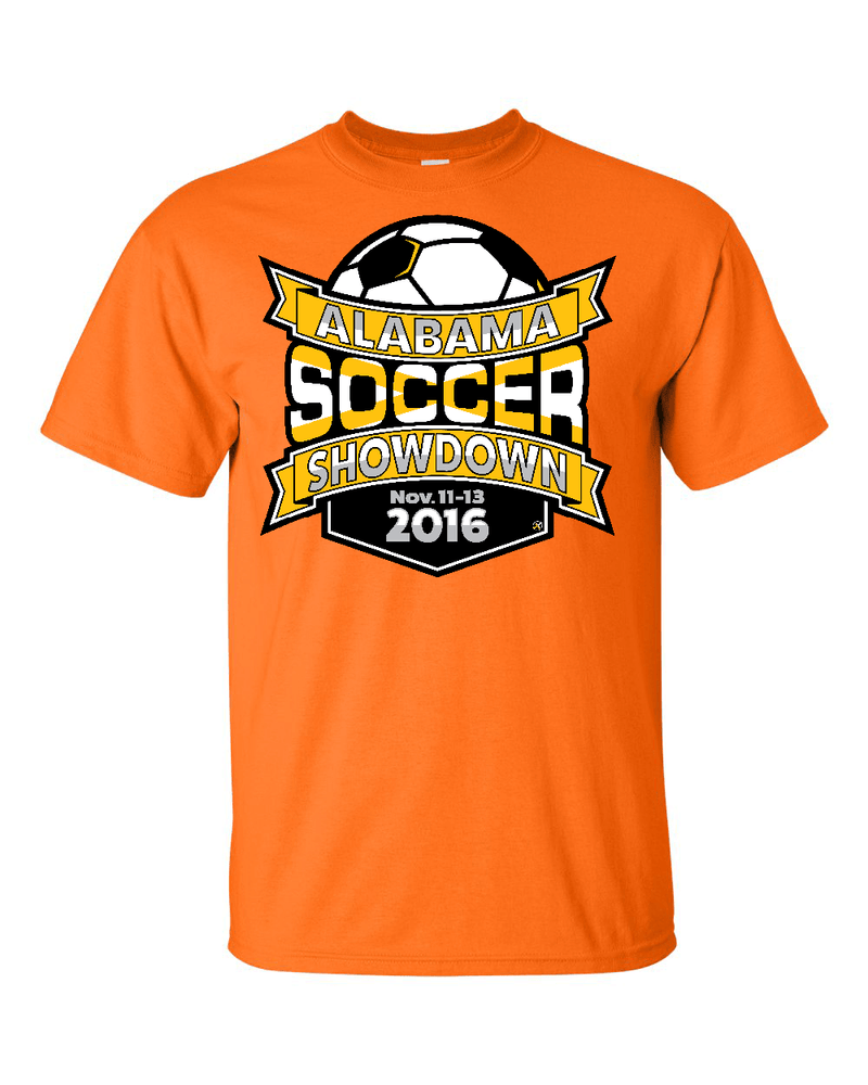 Neon Orange T-Shirt Alabama Soccer Showdown