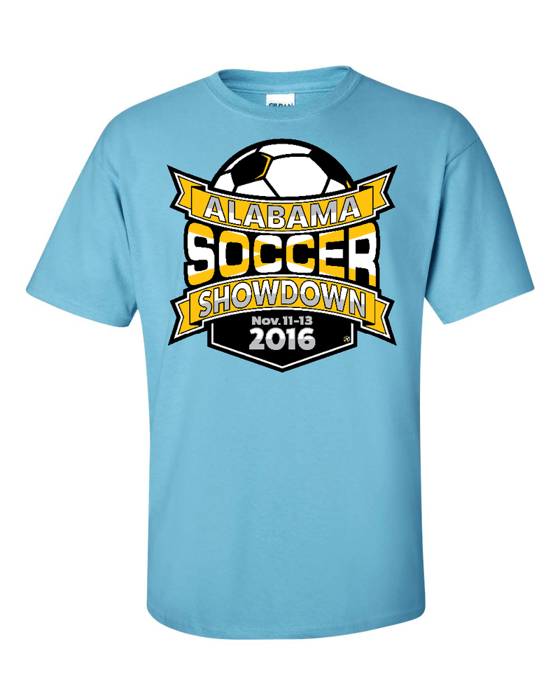 Sky Blue T-Shirt Alabama Soccer Showdown