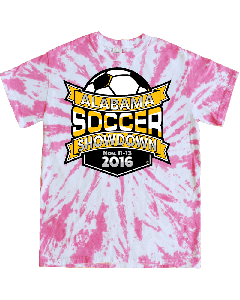 Pink Tie-Dye T-Shirt Alabama Soccer Showdown