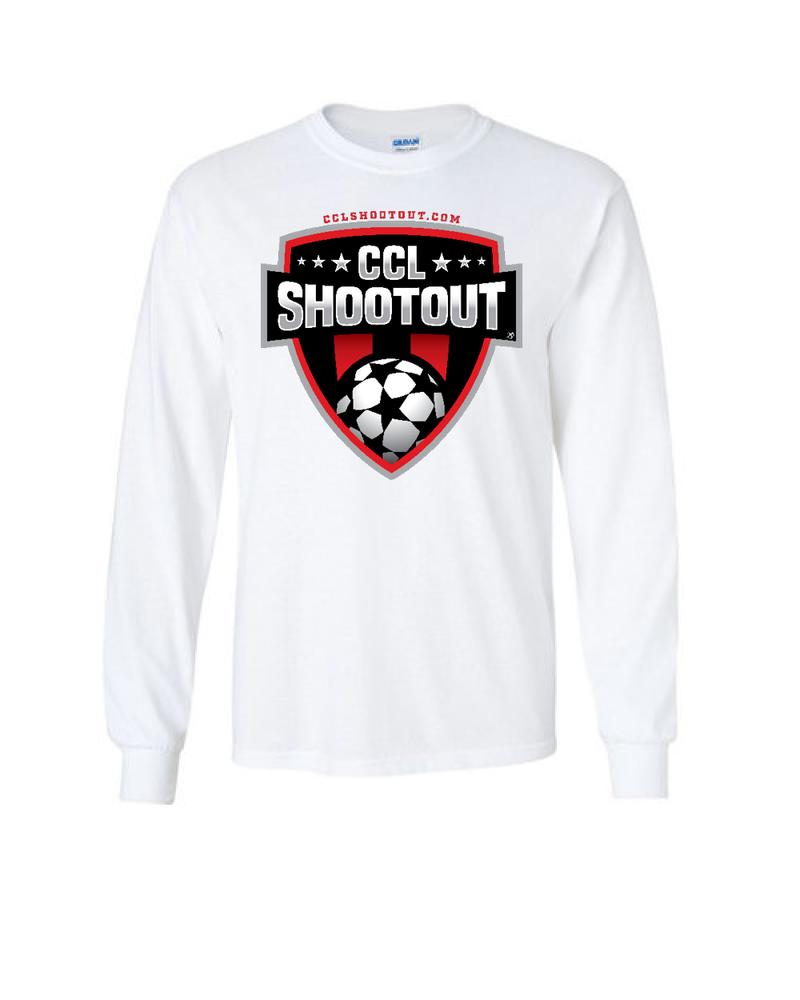White Long-Sleeve Shirt CCL SHOOTOUT