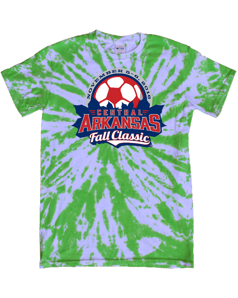 Green Tie-Dye T-Shirt Central Arkansas