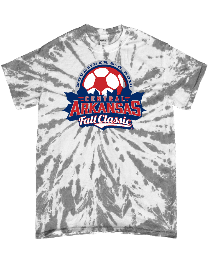 Grey Tie-Dye T-Shirt Central Arkansas