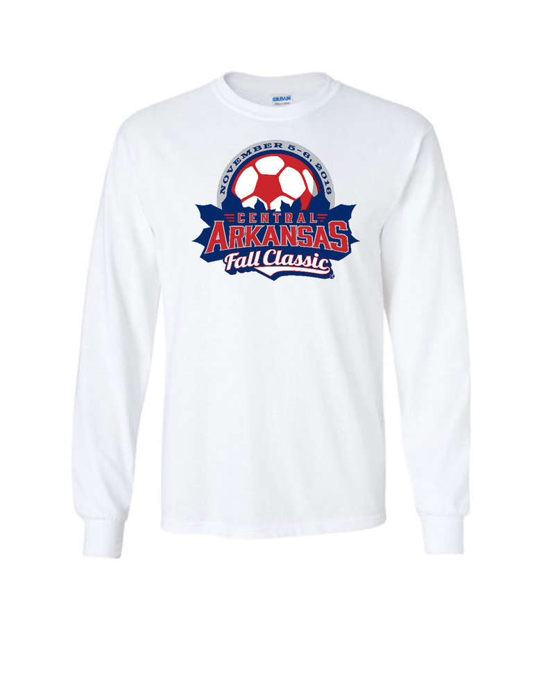 White Long-Sleeve Shirt Central Arkansas
