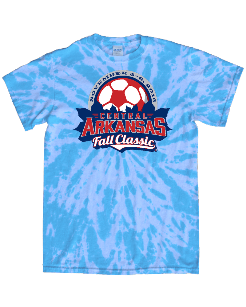 Blue Tie-Dye T-Shirt Central Arkansas