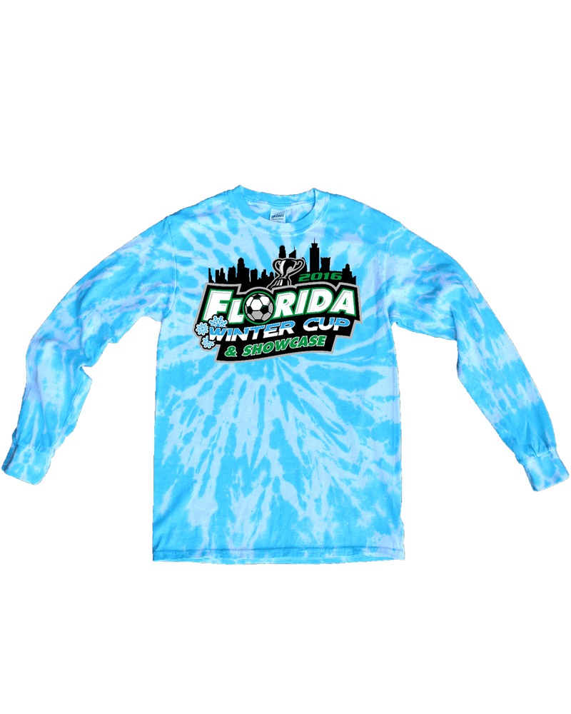 Blue Tie-Dye Long-Sleeve Shirt Florida Winter Cup