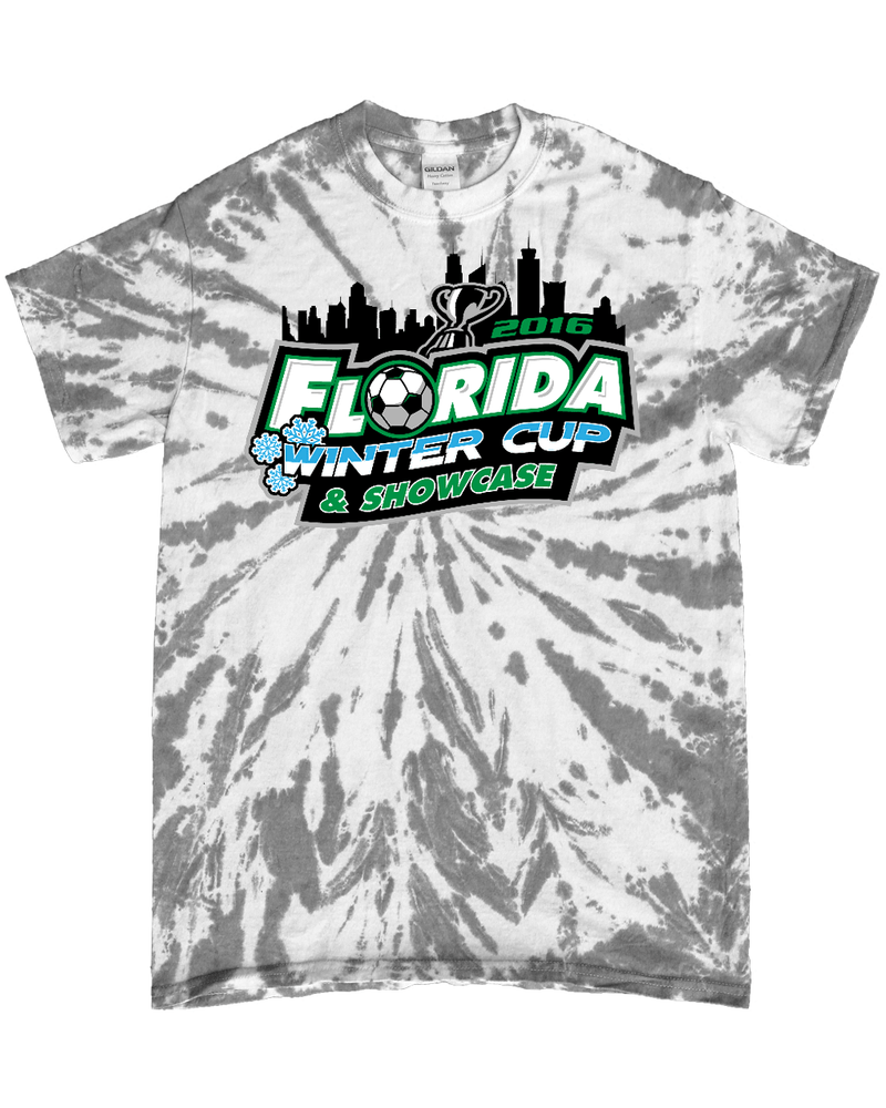 Grey Tie-Dye T-Shirt Florida Winter Cup
