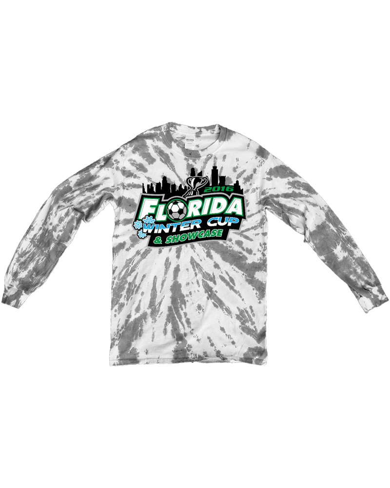 Grey Tie-Dye Long-Sleeve Shirt Florida Winter Cup