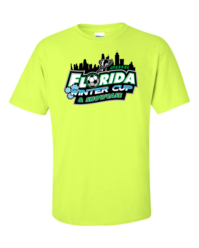 Neon Green T-Shirt Florida Winter Cup