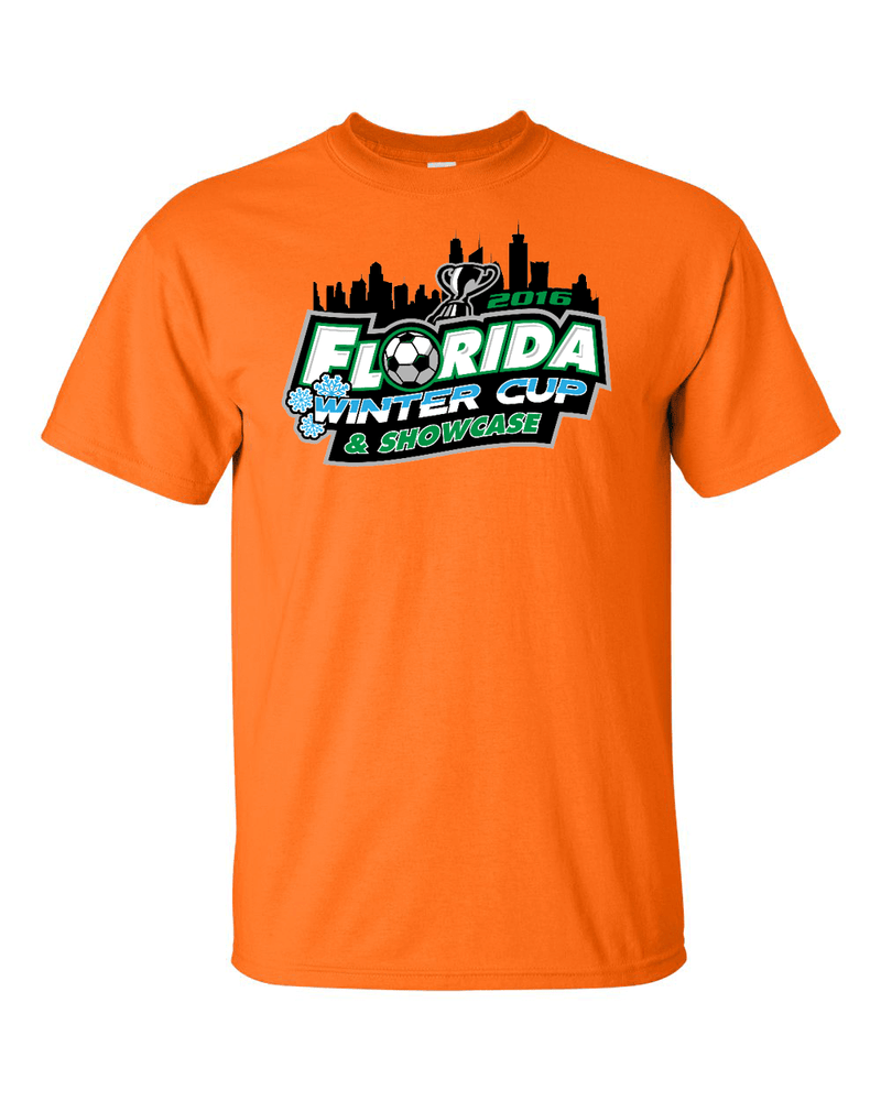 Neon Orange T-Shirt Florida Winter Cup