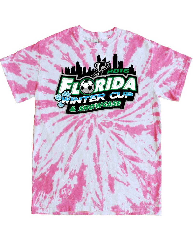 Pink Tie-Dye T-Shirt Florida Winter Cup