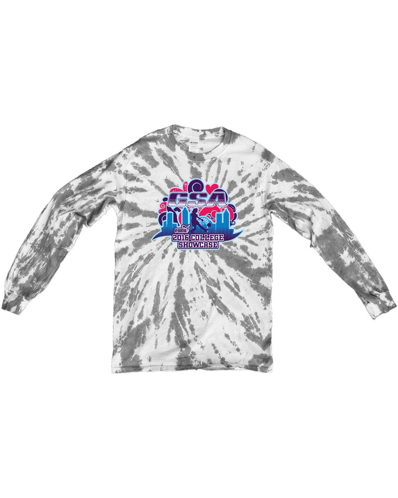 Grey Tie-Dye Long-Sleeve Shirt GSA College Showcase