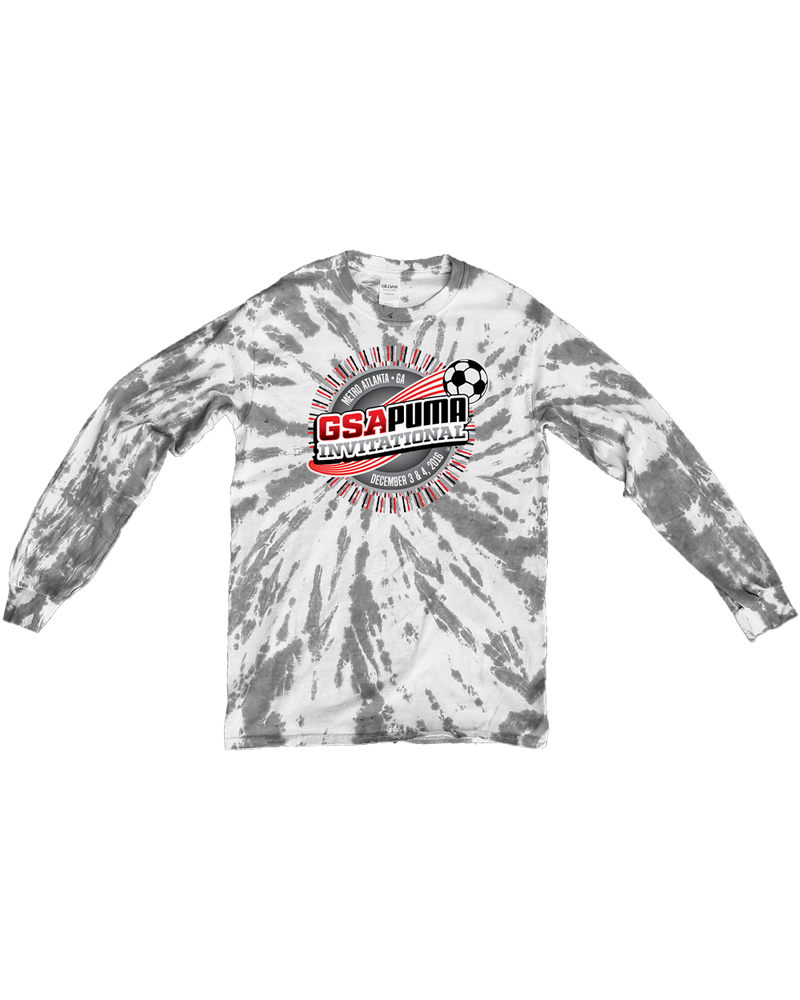 Grey Tie-Dye Long-Sleeve Shirt GSA Invitational
