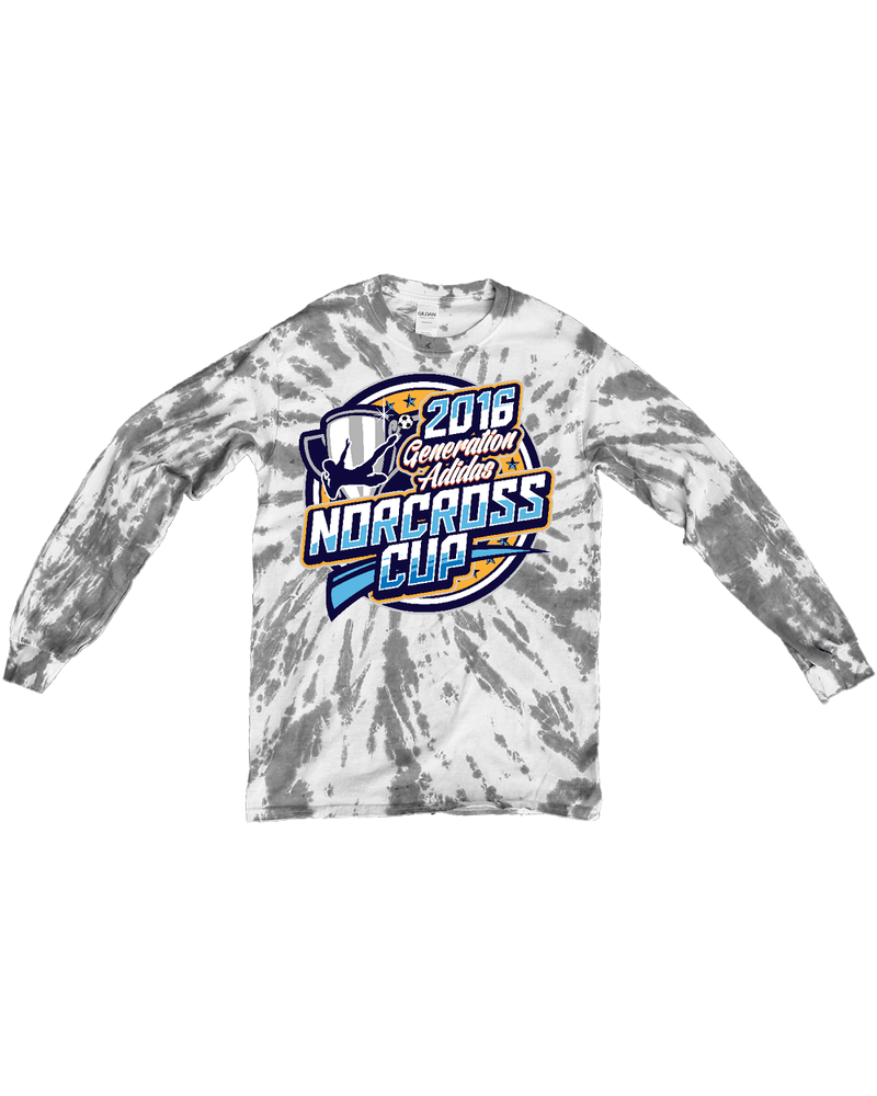 Grey Tie-Dye Long-Sleeve Shirt Generation Norcoss Cup