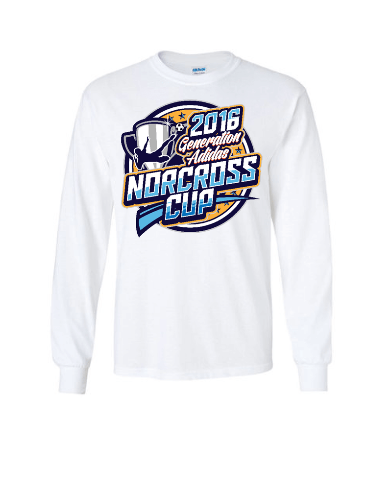 White Long-Sleeve Shirt Generation Norcoss Cup